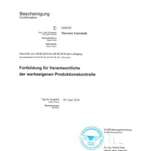 Forbildung werkseigene Produktionskontrolle 2016