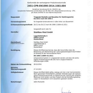 Konformitätserklärung WPK