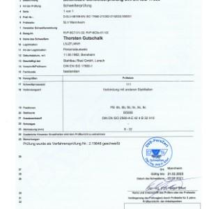 Schweißerprüfung nach DIN EN ISO 17660-1 Thorsten Gutschalk